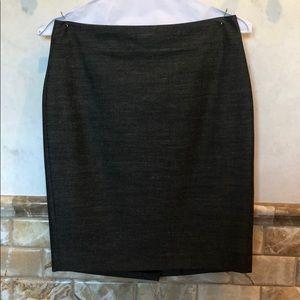 Ann Taylor gray pencil skirt, size 8